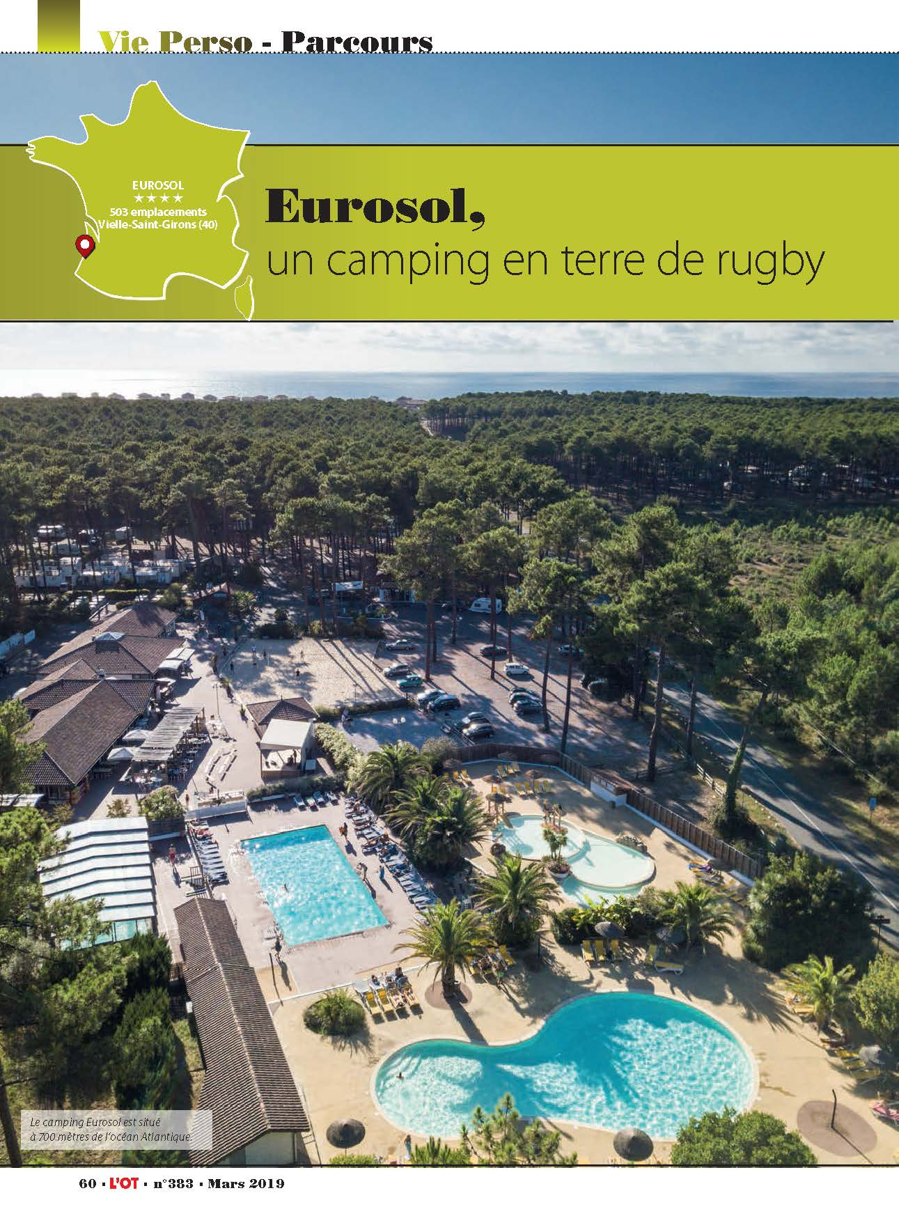 Camping Eurosol terre de rugby
