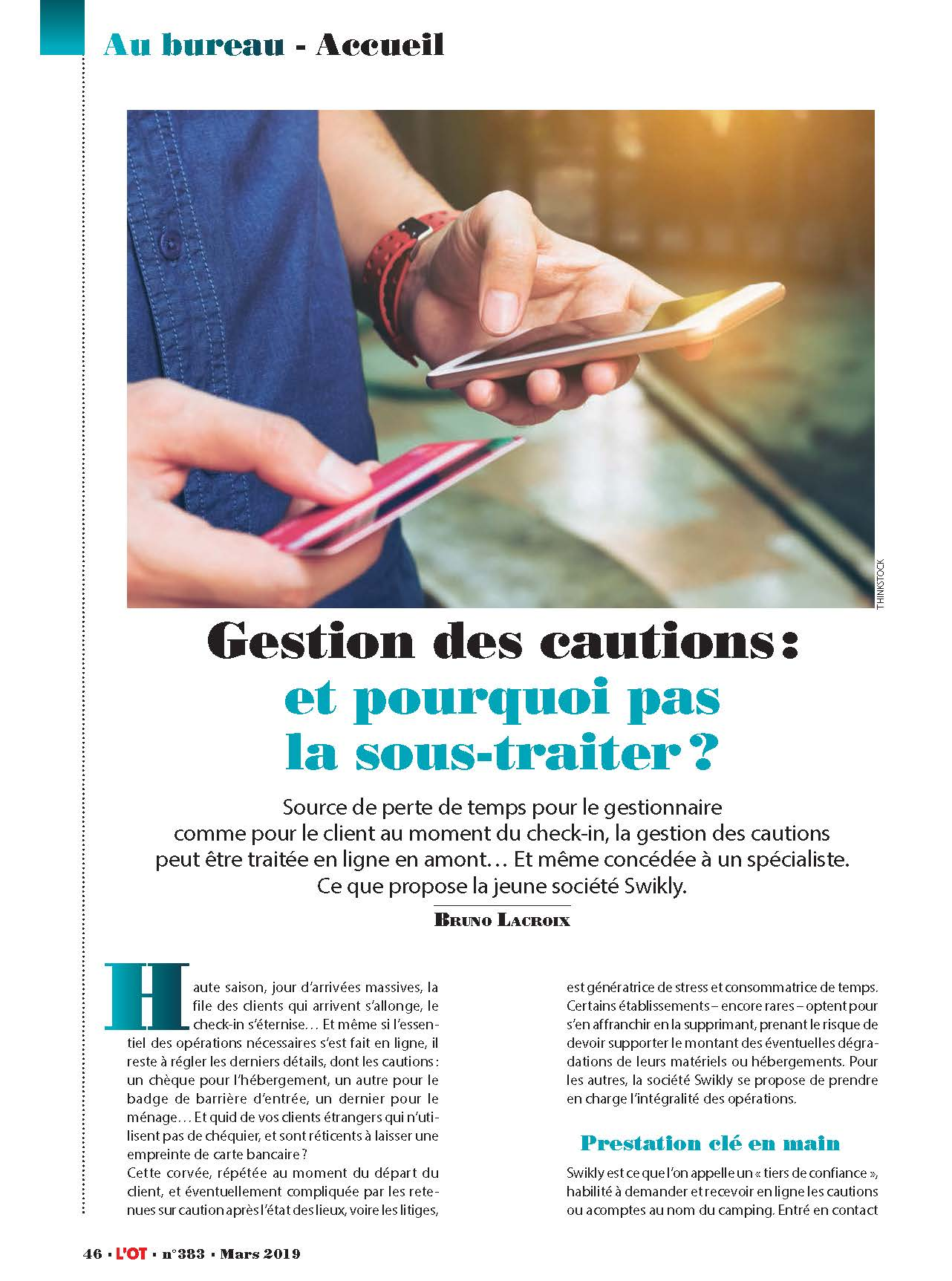 Gestion des cautions